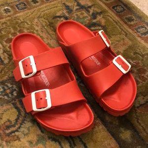 Red Birkenstock's